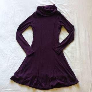 Kookai Plum Wool Dress