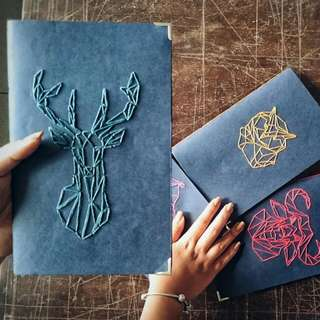 Handcrafted Embroidered Journals