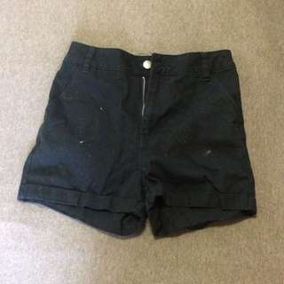 High Waisted Black Shorts XS (8)
