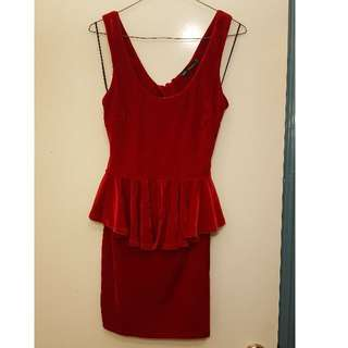 Red Suede Dress Size 10