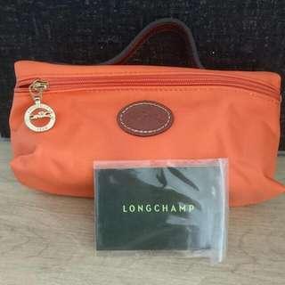Authenic Longchamp Le Pliage Line Ultra Lightweight Canvas Cosmetics Bag