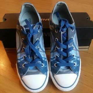 Pre-loved Blue Converse Sneakers For Kids