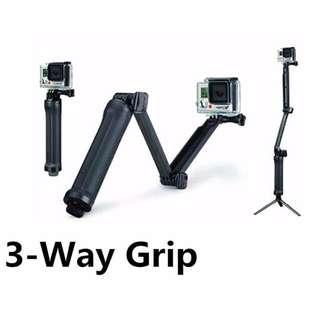3 Way Monopod for GoPro and Sjcam