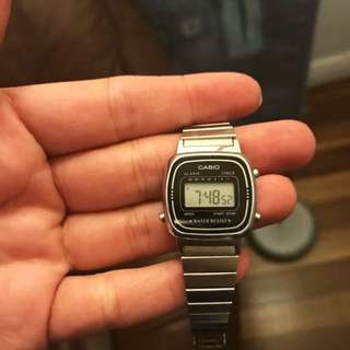 Silver Vintage Style Casio Watch