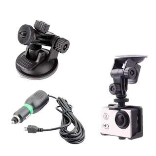 Suction Cup With Charger For SJCAM / EKEN / GoPro