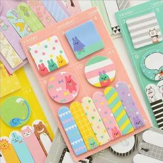 🌸PROMO🌸 Korean Cute Designs Page Markers / Post Its