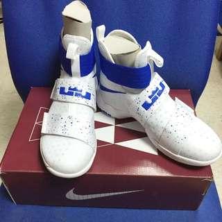 Nike Lebron Soldier 10 白藍 籃球鞋(僅試穿過一次)