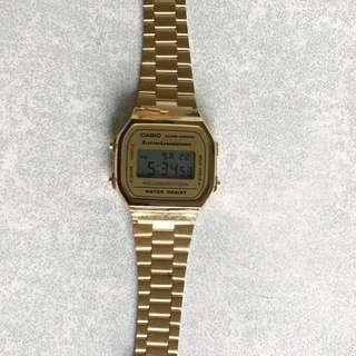 Casio 金色 手錶 電子