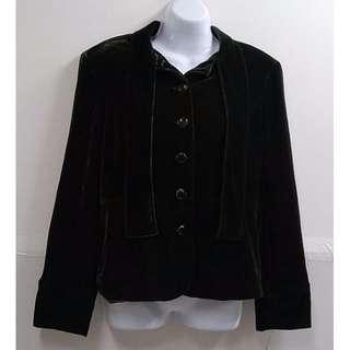 BOB MACKIE高質感絨布時尚貴氣造型修身外套美國時裝品牌優質外套【全新含吊牌原價2772元女性絨布外套10號 】