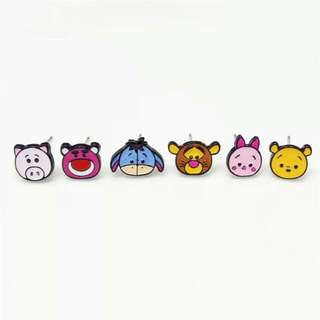 Cute Cartoon Characters Ear Studs