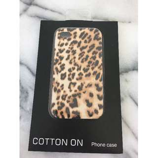 BNIB iPhone 4/4S Case - Leopard print