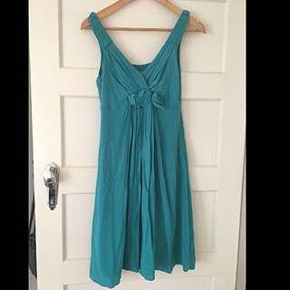 Jigsaw Green Silk Dress - Size 8