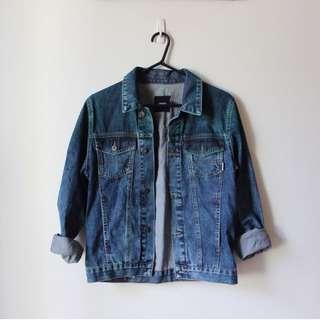 ASOS Green Washed Denim Jacket
