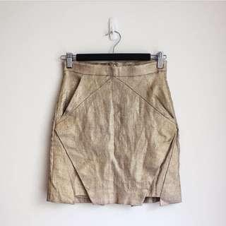 Kookai Casbah Skirt / Gold 36