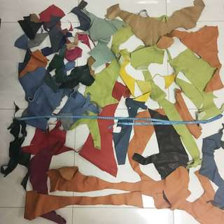 scrap colorful leather for DIY hand craft