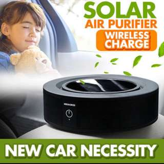 BNIB Solar Powered Car Air Purifier