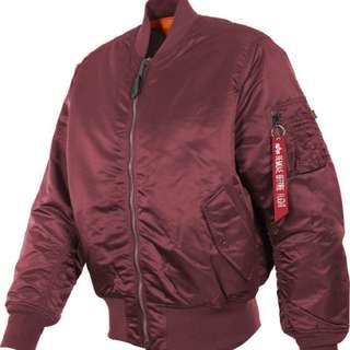 ALPHA Industries Red MA-1 Flight Jacket