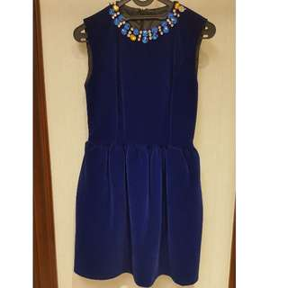 Velvet peplum Dress