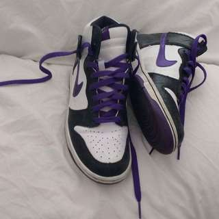 Nike Purple Hitops Authentic