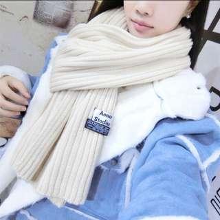 直坑條素色圍巾