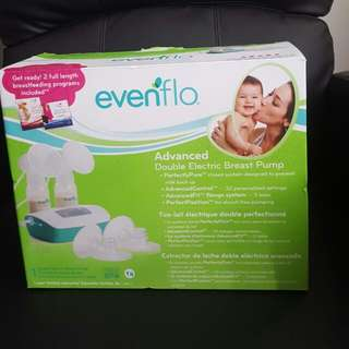 EUC EVENFLO DOUBLE ELECTRIC BREAST PUMP