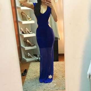 Bandage Evening Gown In Blue