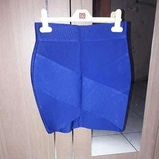 Skirt Biru Electric Bebe