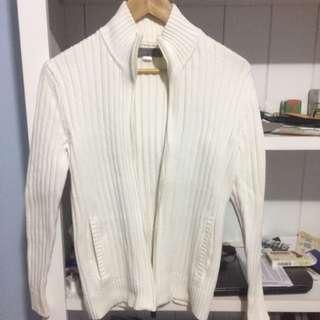 White Giordano Woollen Jacket