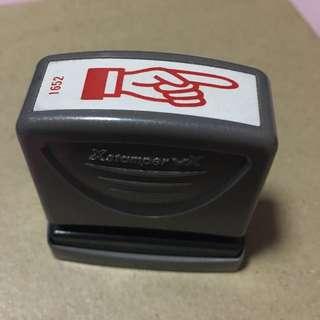 Xstamperxv Arrow Hand Stamp