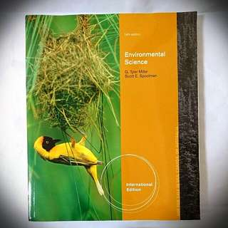 Environmental Science G.Tyler Miller/Scott E. Spoolman 環境與永續發展 生態 大學原文用書 環境科學
