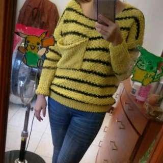 蜜蜂黃黑條紋上衣