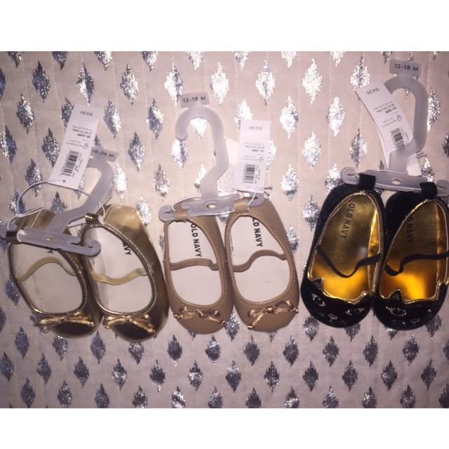 3 Pairs Of Old Navy Baby Flats