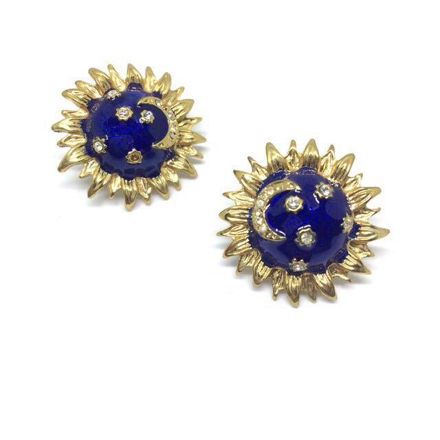 古董👍太陽星星月亮耳環🌞🌟🌛