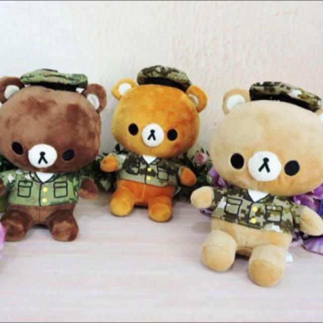 迷彩服熊熊🐻娃娃