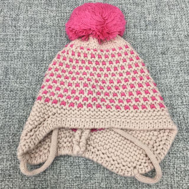 ✨全新✨幼童純棉毛球雙色針織帽