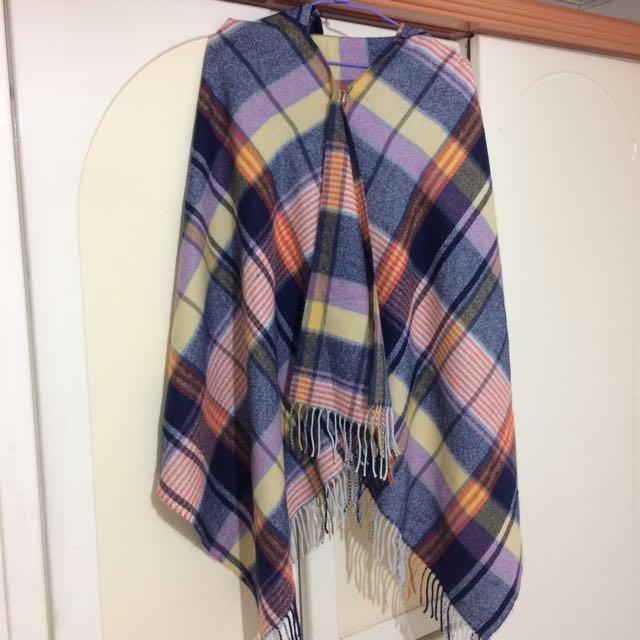 格紋披肩圍巾