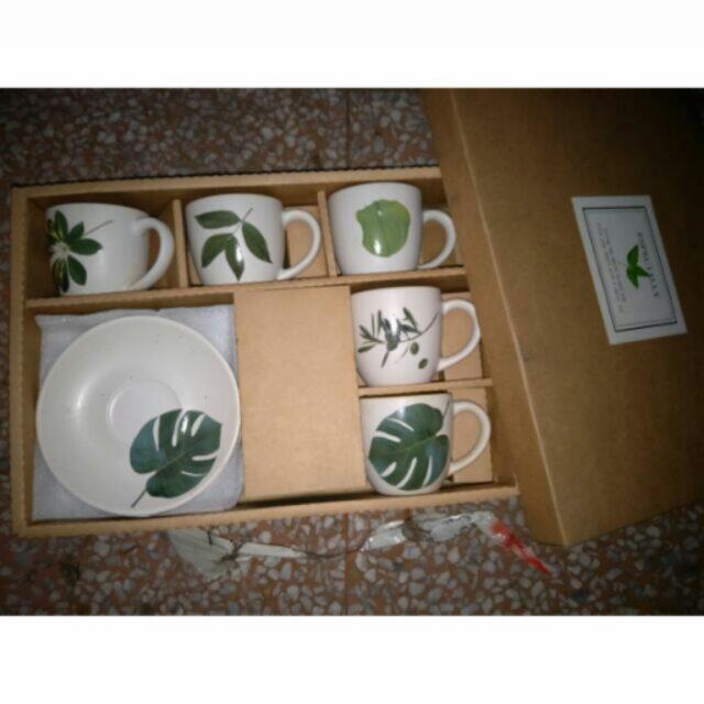 「全新」大自然陶瓷杯具/碗盤組 🍵