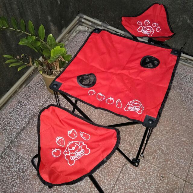 「全新」輕便攜帶式 * 野外/野餐支架桌椅 👍