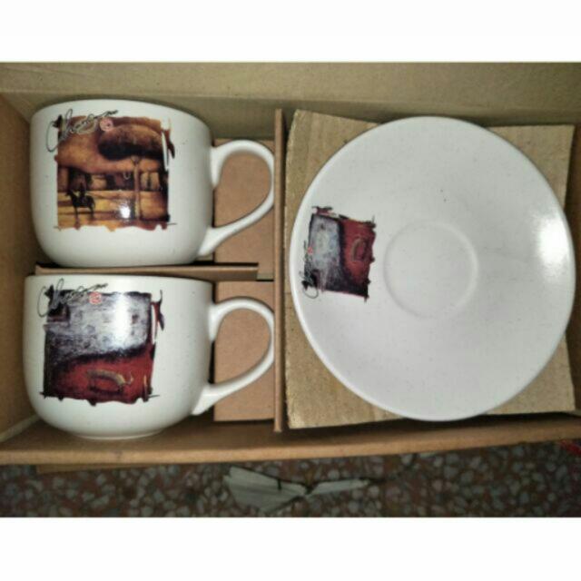 「全新」蕃の窯 * 青田燒 * 陶瓷餐盤杯具組 🍽