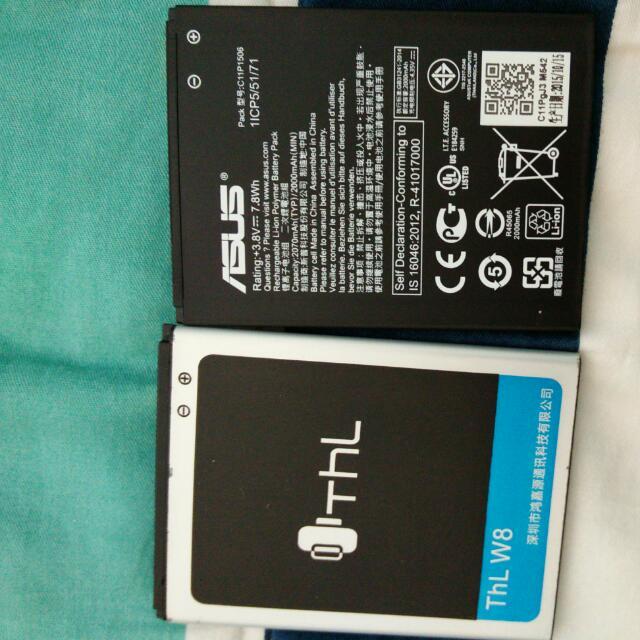 手機電池 THL W8. 華碩zoo原廠電池