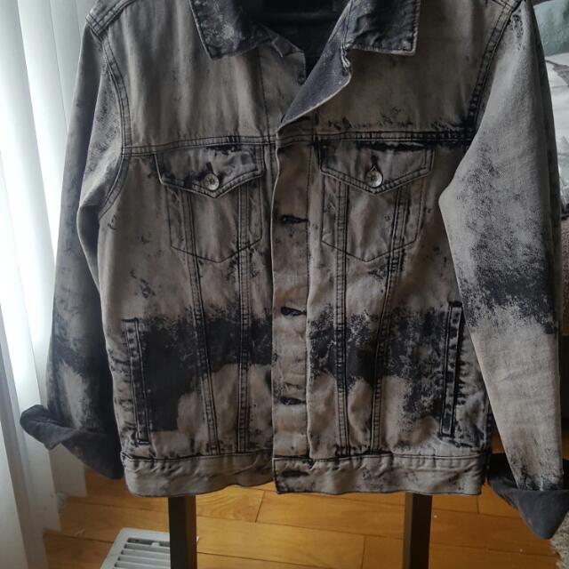 Acid Washed BDG Mens Denim Jacket