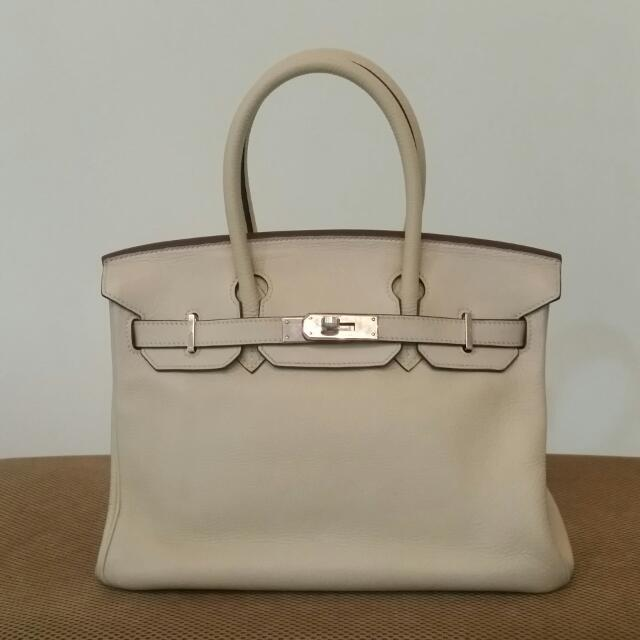 b49da02528a5 ... wholesale authentic hermes birkin 30 clemence parchemin luxury bags  wallets on carousell 7aad0 71259