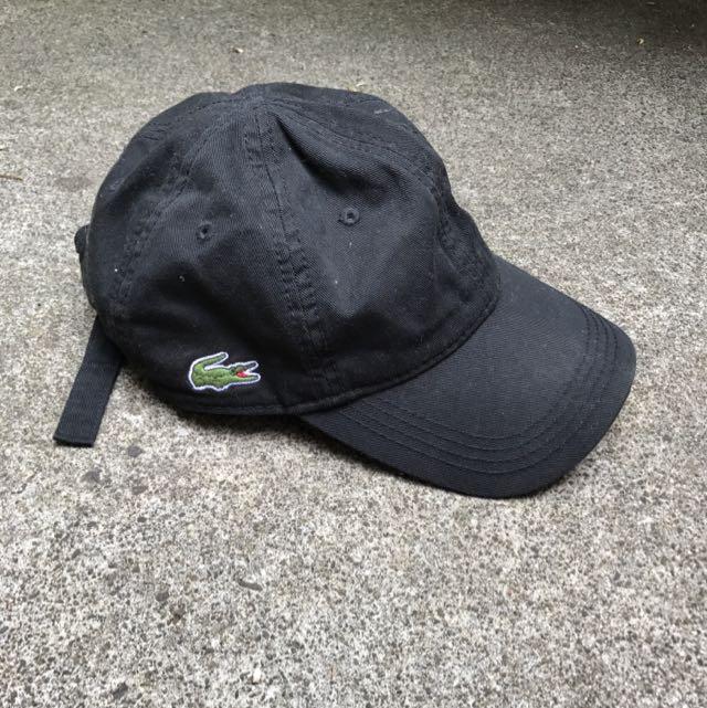 Authentic Lacoste Black Cap ✌🏽️
