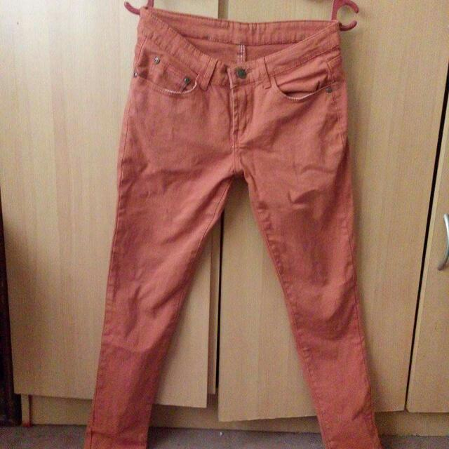 Dark Orange Pants