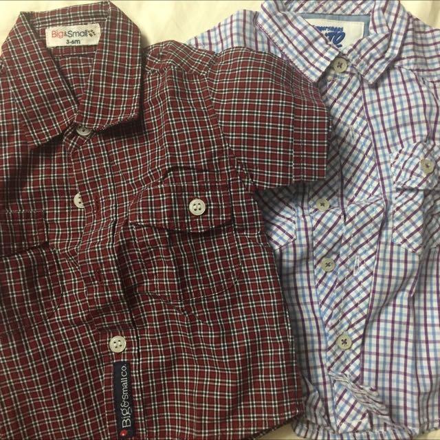 Big And Small Polo Shirt And Gingersnap Polo For 3-6 Mons Set SALE