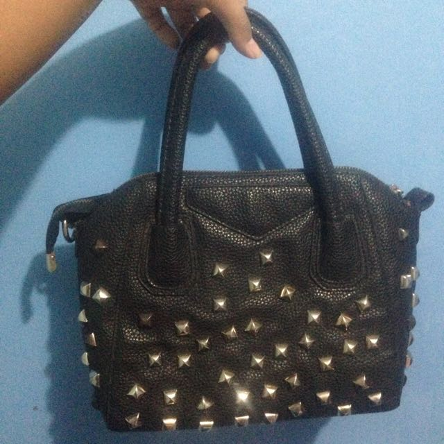 Black Studded Handbag