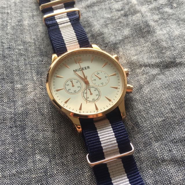 Blue And White Watch