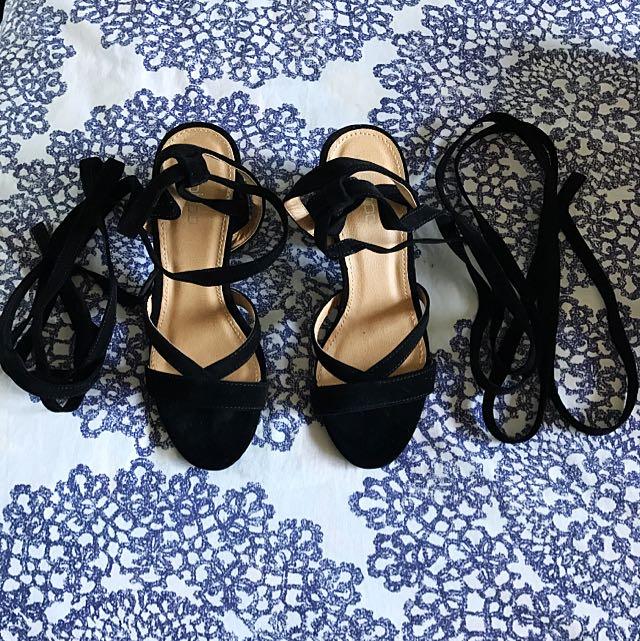 Boohoo Lace-Up Heels