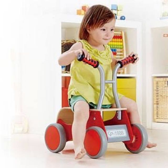 Brand New Hape Wooden Little Red Rider/Walker