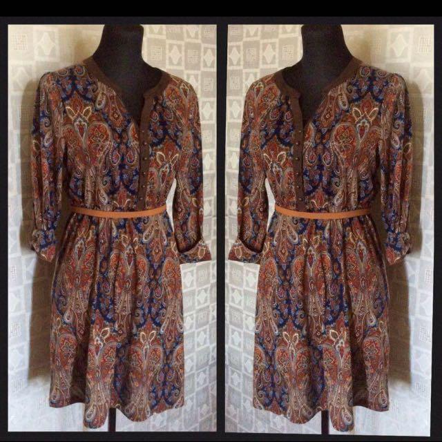 BROWN POLO DRESS